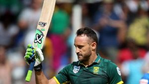 Faf du pLessis is trying to win the Cricket World cup.